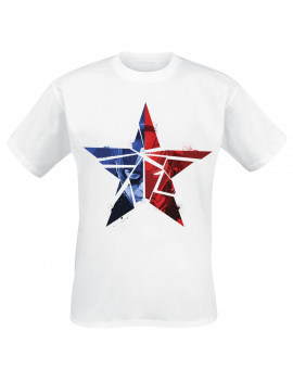 Captain America: Civil War - Cracked Star T-Shirt Homme T-Shirt - Blanc - Taille Large